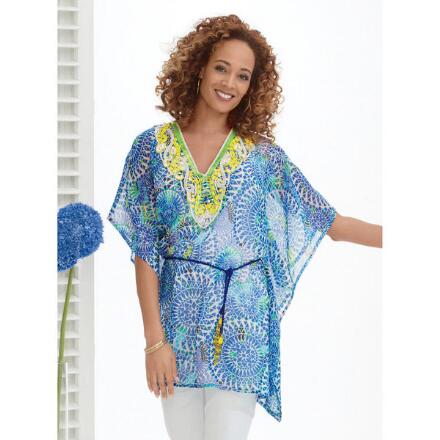 Medallion Print Georgette Tunic
