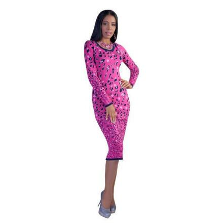 Leopardess Knit Dress by Kayla