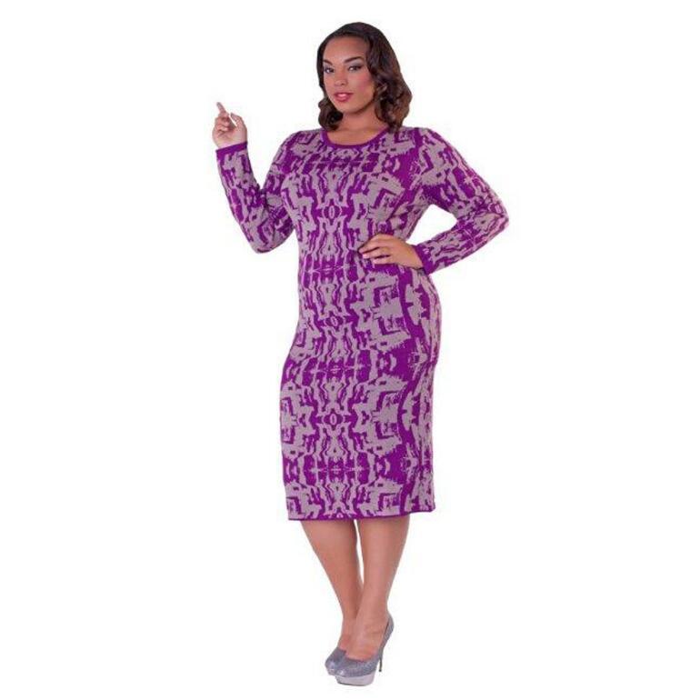 A-Moiré Knit Dress by Kayla