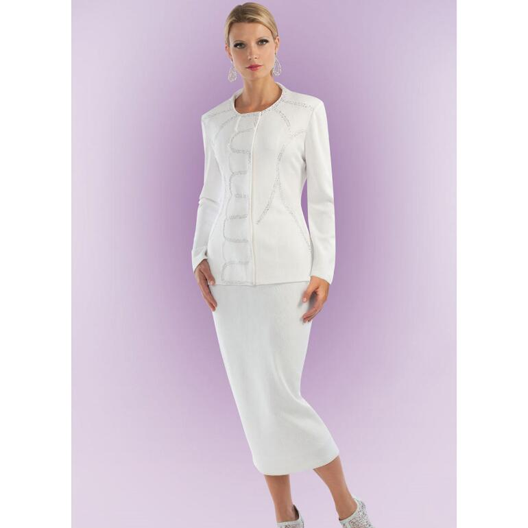 Evangeline Knit 2-Pc. Suit by Tally Taylor