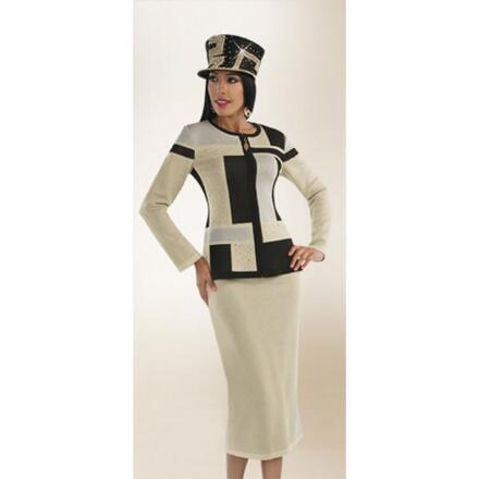 Mondrian Knit 2-Pc. Suit by Tally Taylor