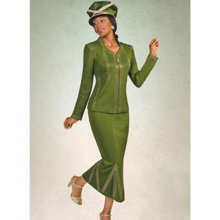 Empress Knit 2-Pc. Suit by Tally Taylor