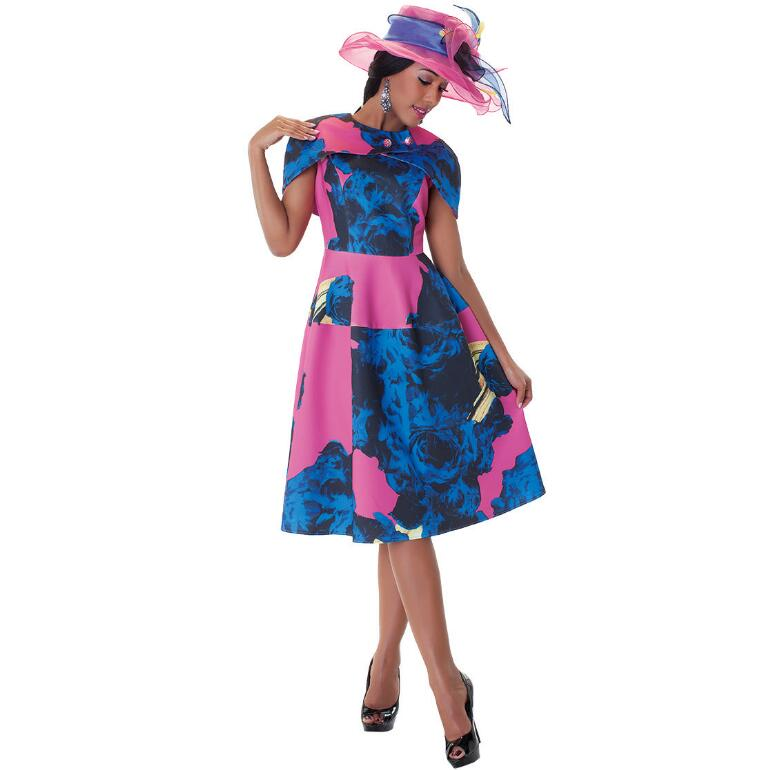 Stylista Dress and Capelette Set by Tally Taylor