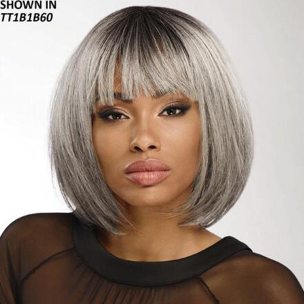 Kaya Human Hair Blend Wig by Donna Vinci Collection